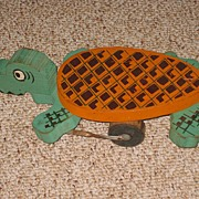 REDUCED Wooden Articulating Alligator Pull Child's Toy