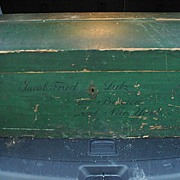 REDUCED German Immigrant Trunk  Mid to Late 1800's
