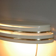 Machine Age Art Deco Style Over Sink Light
