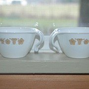 Corelle Butterfly Open Handled Coffee Cups
