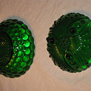Forest Green Glass Candy Dishes by Anchor Hocking