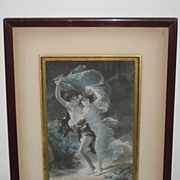 Vintage Photogravure of Wood Nymphs in Original Frame