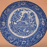 Early Royal Staffordshire Blue and White Fruit Bowl