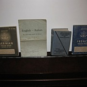 Vintage Group of Four WWII Era English Translation Books