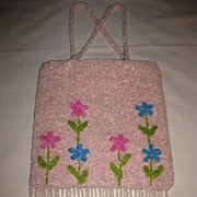 Beaded Bag in Pretty Pink