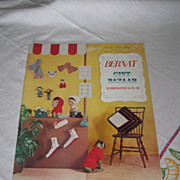Bernat Handicrafter and Bernat Gift Bazaar Magazines from 1950's