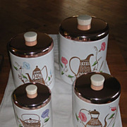 Ransburg Kopper Kettle Tin Nesting Canister Set of Four