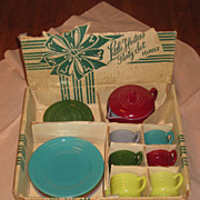 Hazel Atlas Moderntone Little Hostess Tea Set in Original Box
