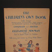 1925 The Children's Own Book Folk Songs