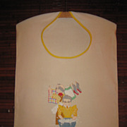 Vintage Embroidered Laundry Bag