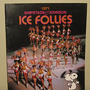Ice Follies Program from 1971 Featuring Peggy Fleming