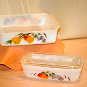 Fire King Gay Fad Fruits Baking Dishes