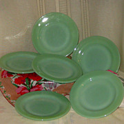 SOLD Jadeite Restaurant Ware by Fire King Six Piece Set Pie Plates