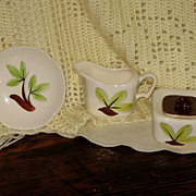 Continental Kilns Creamer Sugar and Tea Cup Set