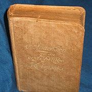 REDUCED German/Catholic Prayer Book