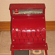 REDUCED Junior Merchant KamKap Inc. Red Metal Toy Cash Register