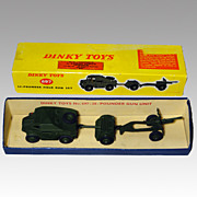 Vintage 25- Pounder Field Gun Set - Dinky Toys Model 697 in Original Box - Mint