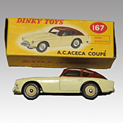 SALE Vintage A.C. Aceca Coupe - Dinky Toys model 167 In Original Box
