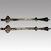 Pair of 18th Century Antique Dutch Strap Hinges