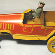 SOLD Strauss Trik Auto Mechanical Tin Lithographed Wind Up Toy Car - 1920's