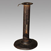 19th Century Hogscraper Pushup Candlestick