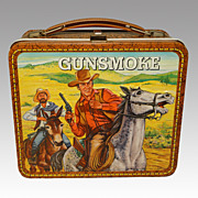 Vintage Gunsmoke Lunch Box 1972 (Mule Splashing) - NM Condition
