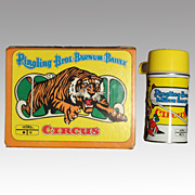 Ringling Bros. Barnum Bailey Circus Vinyl Lunch Box 1970