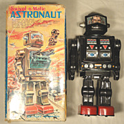 Horikawa 1960's Battery Operated Swivel O Matic Astronaut Robot w/ Original Box - MIB