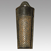 Early Tin Nutmeg Grater
