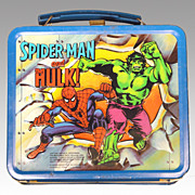 Spiderman and the Hulk Lunch Box 1980