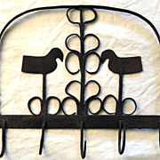 18th Century Wrought Iron Utensil Hook Rack (Mug Rack)