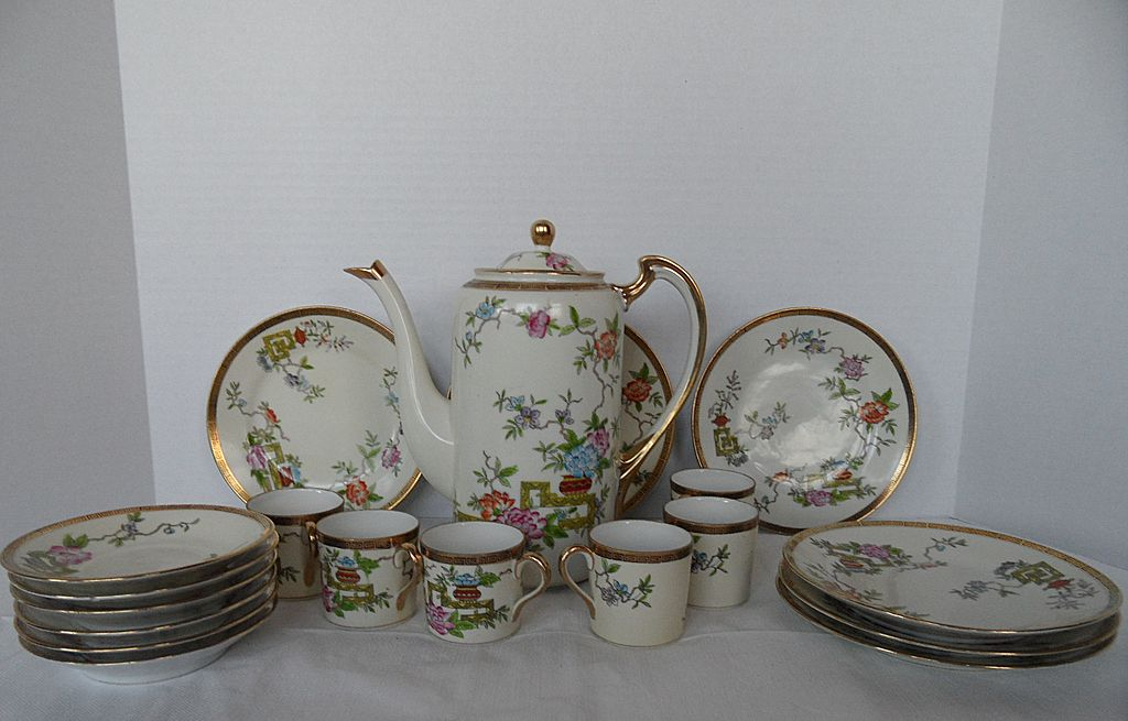 Nippon Tea Set with Six Saucers and Six Serving Plates
