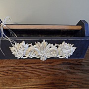 SALE Vintage - Wooden Box with Metal Filigree