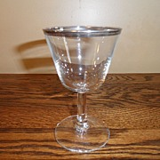 SALE Vintage - Silver Rimmed Glass - Made in France