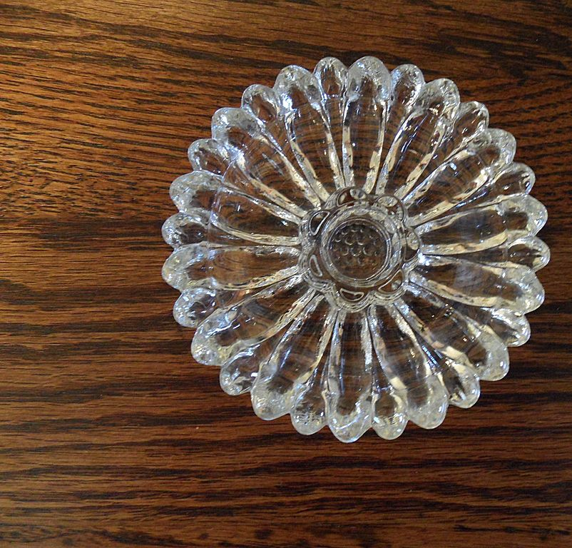 Vintage - Cut Glass - Candle Holder