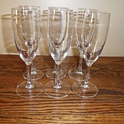 SALE Vintage - Wine Glasses (6)