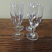 SALE Vintage - Blown Glass - Wine Glasses (4)