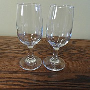 SALE Vintage - Blown Glass - Wine Glasses (2)