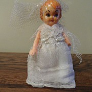 SALE Vintage - Hard Plastic - Google Eye Doll - Wedding Dolly - 1940's