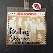 SALE Vintage - Rolling Stones Hall of Fame - Backstage Pass