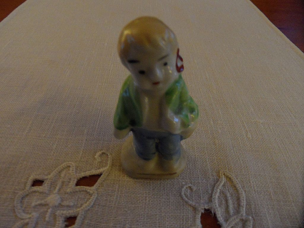 Vintage - Porcelain - SMALL Boy Figurine