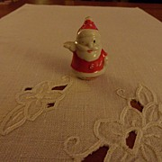SALE Vintage - Porcelain - SMALL - Santa Card Holder