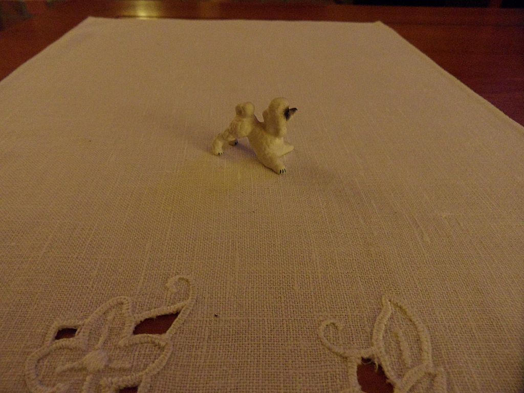 Vintage - Porcelain - SMALL - Poodle Figurine