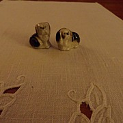 SALE Vintage - Porcelain - SMALL - dogs (2)