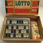SALE Vintage - LOTTO Game - 1930
