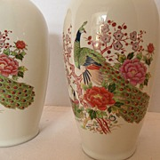 SALE Vintage - Japan - Set of TWO Vases - 50's