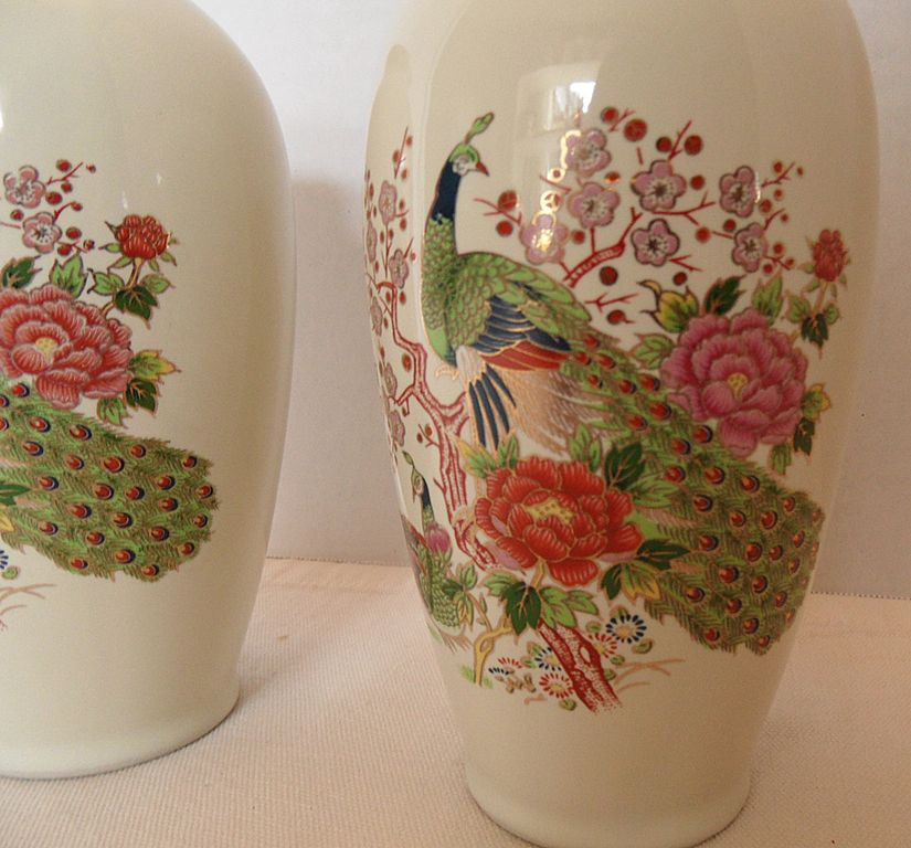 Vintage - Japan - Set of TWO Vases - 50's