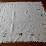 SALE Vintage - Linen Table Mat or Cloth