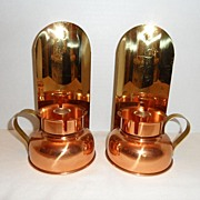 SALE Vintage - Set of Two CopperCraft Candle Holders