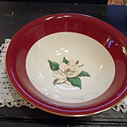 "Vintage - Homer Laughlin - ""Burgundy"" - Serving Bowl"
